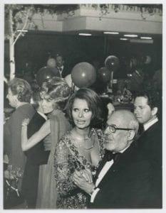 Sophia Loren and Stanley Marcus