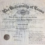 Doctor of Medicine diploma, May 31, 1919