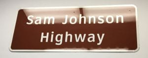 Sam Johnson Highway sign