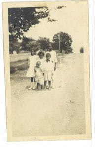 Photograph of Reeves family children
