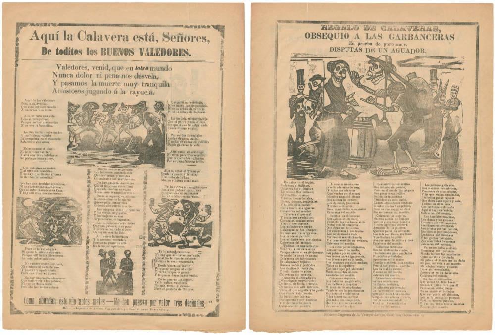 Aqui la calavera esta, senores, de toditos los buenos valedores; Gentlemen, the skeleton of all the good protectors is here (1913)