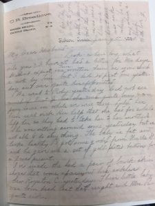 January 5th, 1893, Frankie Smith letter page 1