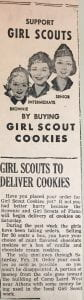 Support Girl Scouts by Selling Cookies clipping