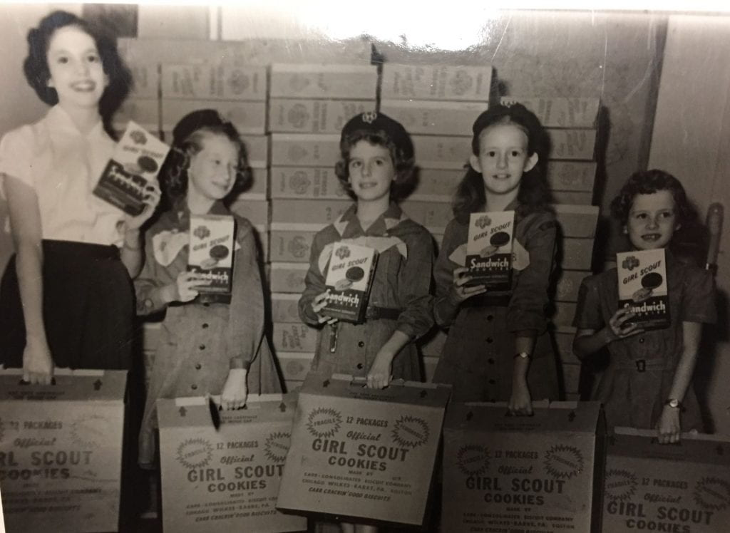 Girl scout cookie sales, 1958