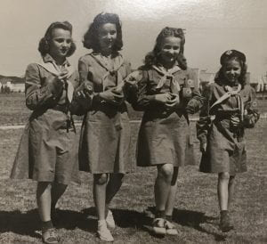 Girl Scouts with cookies, undated