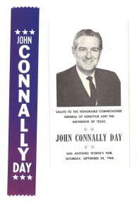 John Connally Day ribbon