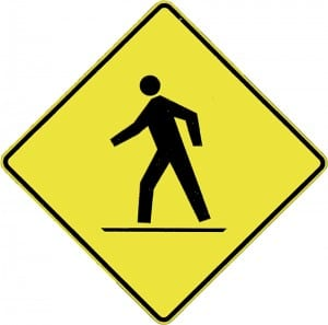 picture of pedestrian sign