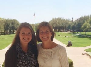 My mother and me on SMU's campus.