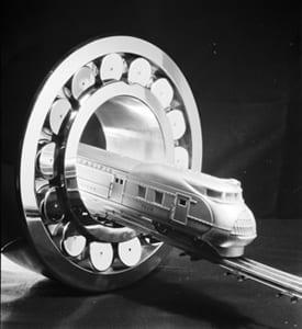Train coming through bearing, S. K. F. Bearing