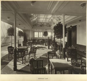 Verandah cafe from the R.M.S. Mauretania