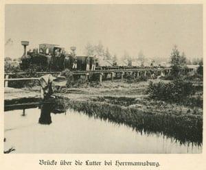 Bruecke ueber die Lutter bei Herrmannsburg