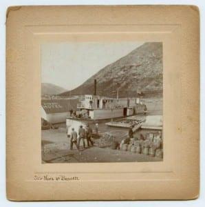 Str Nora at Bennett, ca. 1896-1899