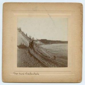 Tram Around White Horse Rapids., ca. 1896-1899