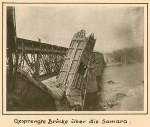 Gesprengte Bruecke ueber die Samara