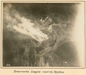 Brennende Ziegelei westlich Rostow