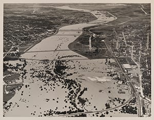 Trinity River Flood Stage (unlabeled), June 12, 1941
