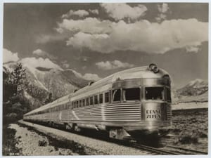 "C.B.&Q.R.R., Original ""Denver Zephyr"", ""Silver Flash"" on Rear, ca. 1936, DeGolyer Library, SMU."
