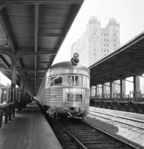 "Fort Worth & Denver City, ""Texas Zephyr"", August 16, 1962, by Everett L. DeGolyer, Jr., DeGolyer Library, SMU."