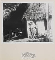 Dr. Silvanus Morley's invitation; as guests for three months, at the Carnegie Institution of Washington homes: Consuelo, Sergio, Patsy and myself. Chichen-Itza, Yucatan, 1938