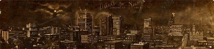 Dallas by Night, January 1st, 1914