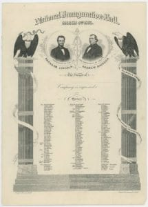[Abraham Lincoln and Andrew Johnson Inaugural Ball Invitation, 1865], DeGolyer Library, SMU.