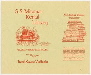 [S. S. Miramar Rental Library Brochure] , ca. 1942-1948, DeGolyer Library, SMU.