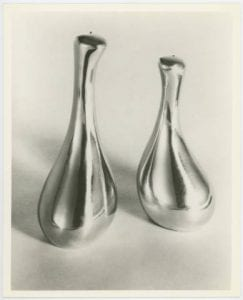 Salt and Pepper, Teflon Lined, 1974, from Octavio Medellin's Sculptureware product line, Bywaters Special Collections, SMU.