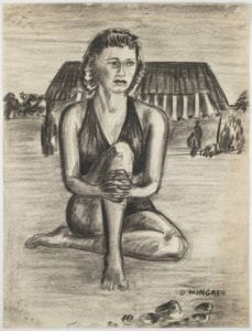 Untitled charcoal drawing by Dan Wingren, Bywaters Special Collections, SMU.