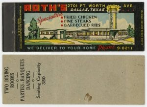 Roth's, ca. 1940s-1970s, George W. Cook Dallas/Texas Image Collection, DeGolyer Library, SMU.