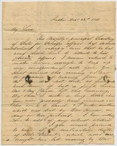 [Anson Jones Letter to Mary Jones, 1841 December 22], George W. Cook Dallas/Texas Image Collection, DeGolyer Library, SMU.