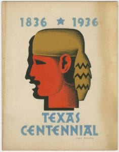 Untitled, Tempera Painting of Davy Crockett for 1936 Texas Centennial by Jerry Bywaters, Bywaters Special Collections, SMU.