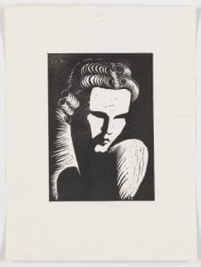 Untitled (self-portrait), ca. 1937, by Mary Elizabeth Beasley Nye. Gift of Mr. Eric Beasley Nye, Bywaters Special Collections, SMU.