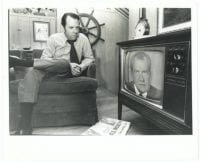 Dallas Mayor Wes Wise Watches President Richard Nixon's Resignation], August 8, 1974, by Andy Hanson, DeGolyer Library, SMU.