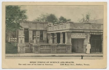 Hindu Temple of Science and Health, Dallas, 1910, DeGolyer Library, SMU.