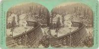 Secret Town Trestle Work, 90 Feet High, Near Gold Run, ca. 1867-1869, by C.R. Savage, DeGolyer Library, SMU.