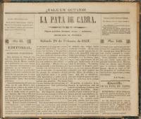 La Pata de Cabra, Ano II, Num. 143, Sabado 28 de Febrero de 1857, DeGolyer Library, SMU.