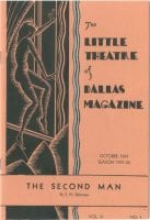 The Second Man, October 1931, Little Theatre of Dallas Collection, cover art by Dorothy Sutton, Bywaters Special Collections, SMU