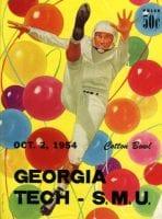 Georgia Tech vs. SMU Cotton Bowl Game Program Cover (1954)