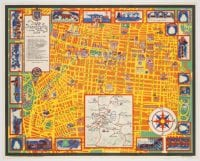 Map of Mexico City and Valley, Designed by Carlos Merida, Published by Frances Toor Studios, 1935