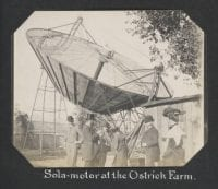 Sola-motor at the Ostrich Farm, 1902