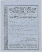 two items from the Collection of Adelsverein Documents, 1845-1864