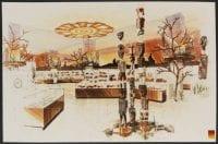 [Floor Display Design Sketch for Australian Fortnight], 1986, DeGolyer Library, SMU