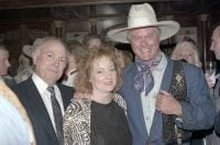 [Larry Hagman and guests at the Rosewood Crescent Club], 1988, DeGolyer Library, SMU