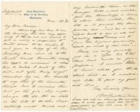 [Letter to George Converse from Benjamin Buckingham], 1896