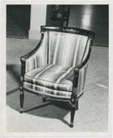 [Striped Armchair], ca. 1941, DeGolyer Library, SMU