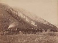 Train at the Devil's Slide, 1873, by Carleton E. Watkins