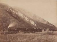 Train at the Devil's Slide, 1873, by Carleton E. Watkins