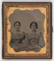 [Two women, possibly sisters], ambrotype, ca. 1855-165