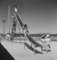 American school children at play, ca. 1946-1947, DeGolyer Library, SMU