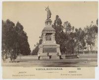 Estatua de Cuahutemoc. [No. 163], ca. 1885-1889, DeGolyer Library, SMU.